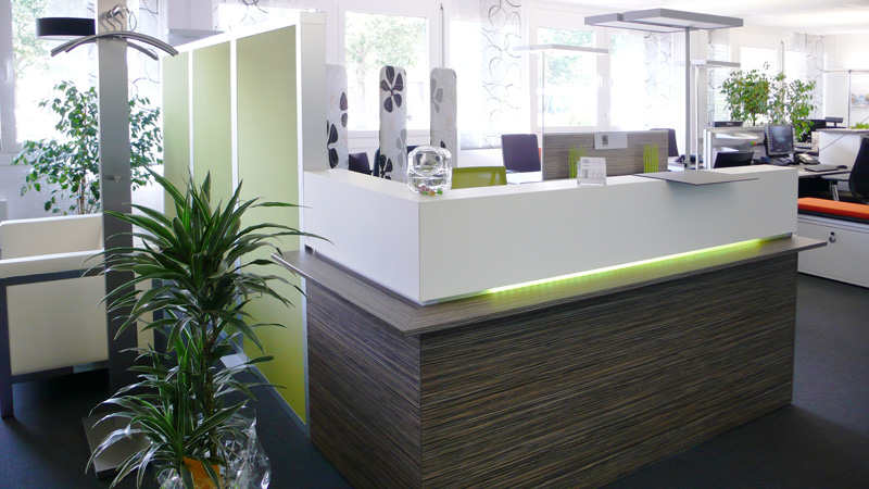 Büroeinrichtung empfang  Über uns - Büro | Objekt Eisele | Stutensee/Karlsruhe